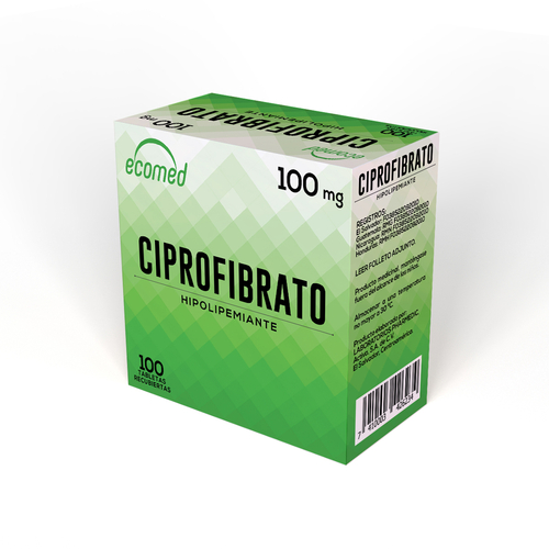 CIPROFIBRATO ECOMED 100MG X 100 TABLETAS