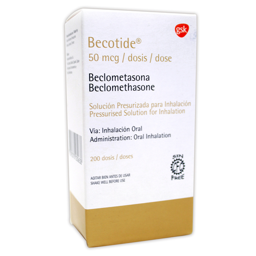 BECOTIDE 50MCG INHALADOR FRASCO X 200 DOSIS